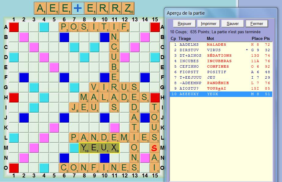 Scrabble Covid 19 Au Coin Du Cercle